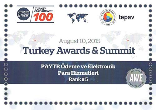 Türkiye 100 sıralamasında en hızlı büyüyen 5. şirket!